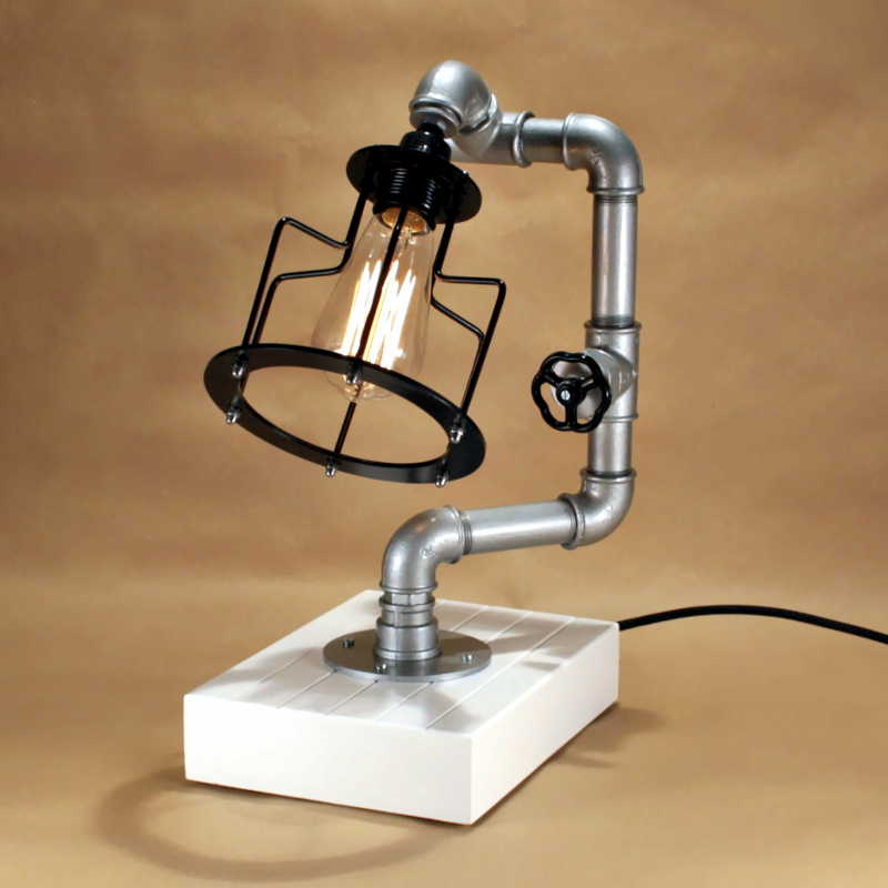 Steampunk lámpa – 12