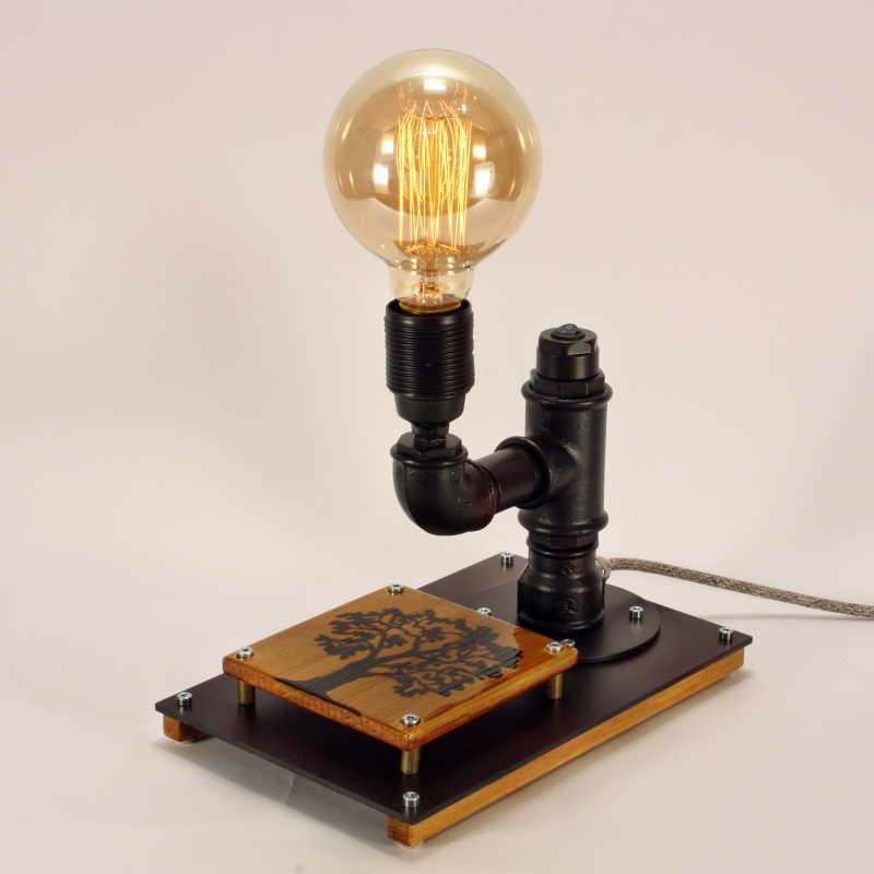Steampunk lámpa – 18