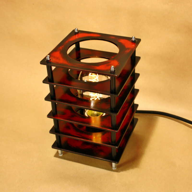 Steampunk lámpa – 6