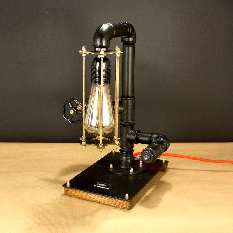 STEAMPUNK-30, indusztriális asztali lámpa