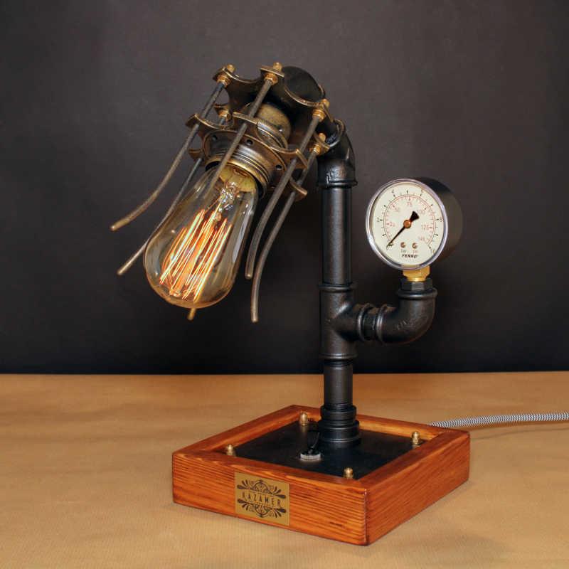 STEAMPUNK-35, indusztriális asztali lámpa