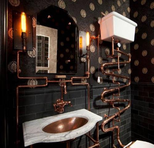 steampunk fürdőszoba